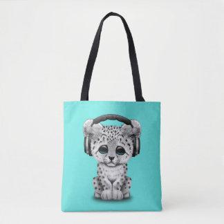 Niedliche tragende Kopfhörer Schneeleopard CUBs Tasche