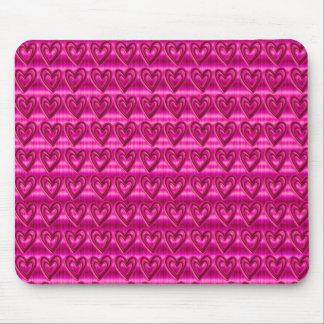 Niedliche Trendy Krawatten-Rosa-Herzen Mousepads