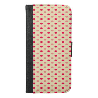 Niedliche Trendy Polka-Punkte iPhone 6/6s Plus Geldbeutel Hülle