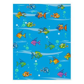 Niedliche tropische Fisch-Postkarte Postkarte