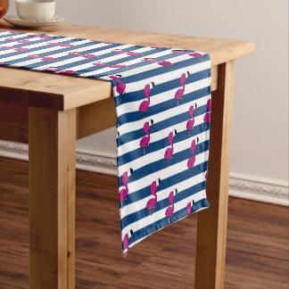 niedliche tropische rosa blaue Streifen der Kurzer Tischläufer
