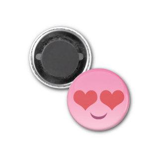 Niedliche u. kleine herzliche Augen rosa emoji Runder Magnet 3,2 Cm