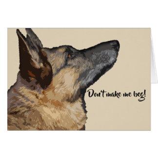 Niedliche u. Tageskarte Spaß-Schäferhundvalentines Karte