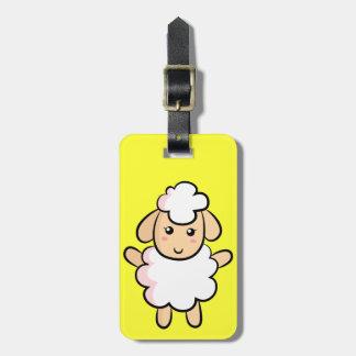 Niedliche und glückliche Bauernhof-Schafe Kofferanhänger
