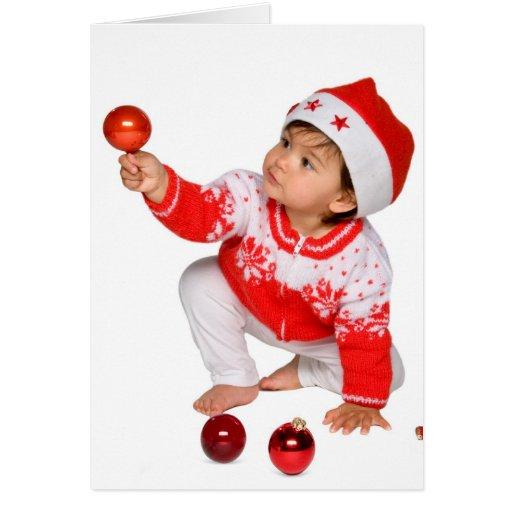 niedliche und lustige weihnachtskarte baby karten zazzle. Black Bedroom Furniture Sets. Home Design Ideas