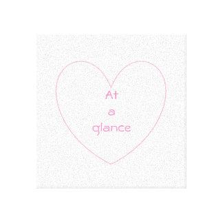 Niedliche und reizende Herzbuchstaben Leinwanddruck