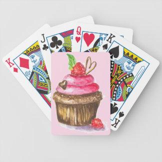 Niedliche und Spaß-Schokolade, Himbeerkleiner Bicycle Spielkarten