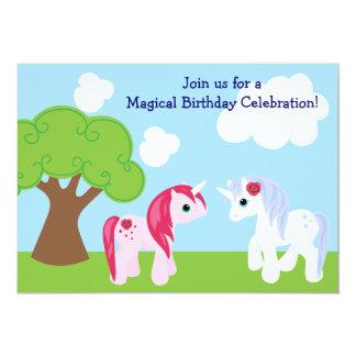 Niedliche Unicorn-Geburtstags-Einladung 12,7 X 17,8 Cm Einladungskarte