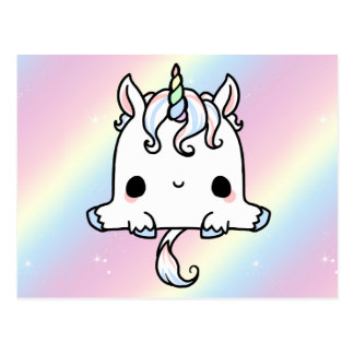 Niedliche Unicorn-Postkarte Postkarte