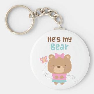 Niedliche unterhaltende Paar-weiblicher Bär und Schlüsselanhänger