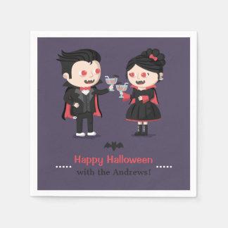 Niedliche Vampire-Jungen-und Servietten