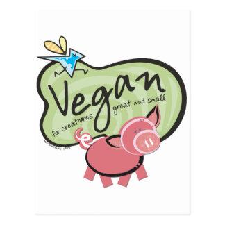 Niedliche vegane Mitteilung Postkarte