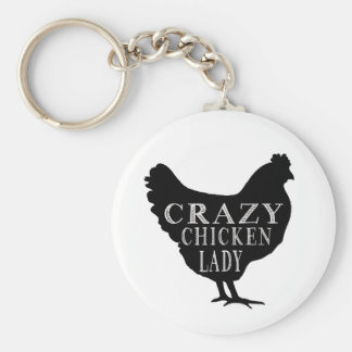 Niedliche verrückte Huhn-Dame Schlüsselband
