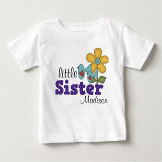 Niedliche Vogel-Gänseblümchen-Blumen-kleine Baby T-shirt