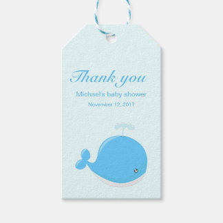 Niedliche Wal kawaii Cartoon-Babydusche danken Geschenkanhänger