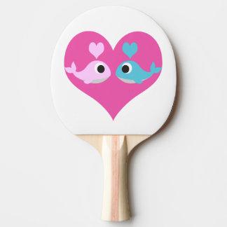 Niedliche Wal-Liebe Tischtennis Schläger
