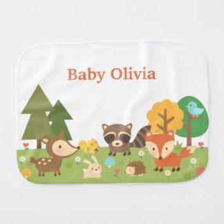 Niedliche Waldwaldtiere für Babys Baby Spucktuch