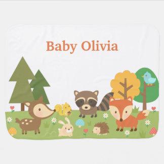 Niedliche Waldwaldtiere für Babys Puckdecke