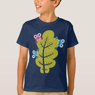 Niedliche Wanzen essen grüne Blatt-Kinder T-Shirt
