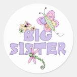 Niedliche Wanzen-große Schwester Runde Aufkleber