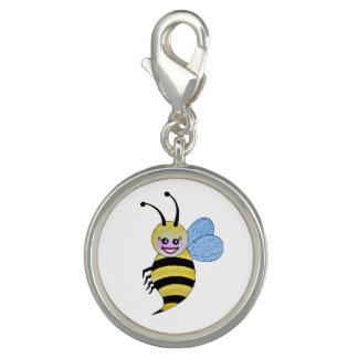Niedliche Watercolor-Biene mit glücklichem Lächeln Charm