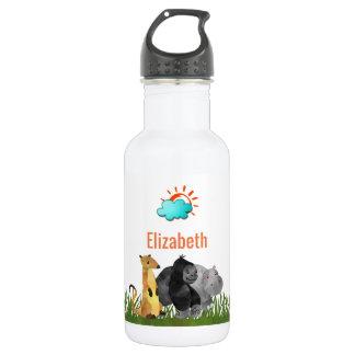 Niedliche Watercolor-Safari-Dschungel-Tiere Trinkflasche