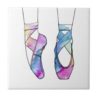 Niedliche Watercolor-Tanzen-Ballett-Schuhe für Fliese