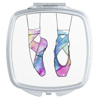 Niedliche Watercolor-Tanzen-Ballett-Schuhe für Schminkspiegel