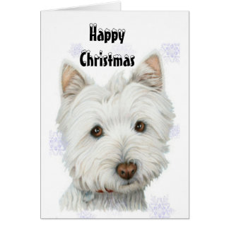 Niedliche WeihnachtenWestie Hundegeschenke Grußkarte