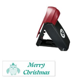 Niedliche Weihnachtseulen-kundenspezifische Taschenstempel