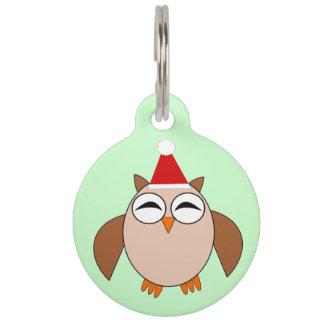 Niedliche Weihnachtseulen-kundenspezifische Tiermarke