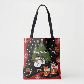 Niedliche Weihnachtsillustration mit Tasche