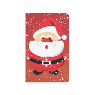 Niedliche Weihnachtsmann-Weihnachtsgewohnheit Taschennotizbuch