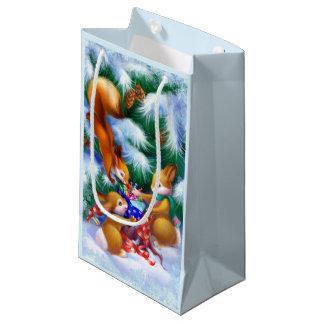 Niedliche Weihnachtstier-kleine Geschenk-Tasche Kleine Geschenktüte