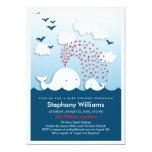 Niedliche weiße Wal-stilvolle Baby-Dusche laden Individuelle Einladungen