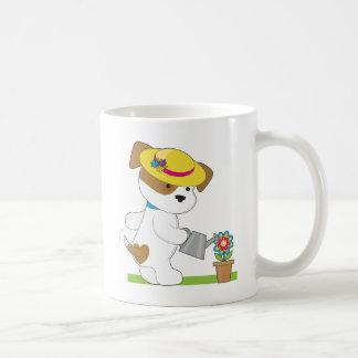 Niedliche Welpen-Pflanze Kaffeetasse
