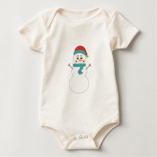 Niedliche Wintersnowman-Kleidung Baby Strampler