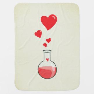Niedliche Wissenschaftgeek-Flasche Herzen Babydecke