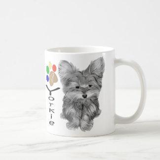 Niedliche Yorkie Hunde-und Kaffeetasse