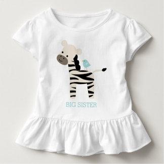 Niedliche Zebra-und Vogel-Gewohnheits-Mitteilung Kleinkind T-shirt