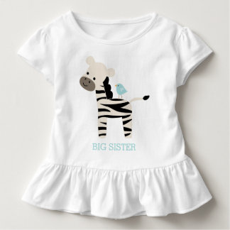 Niedliche Zebra-und Vogel-Gewohnheits-Mitteilung Kleinkinder T-shirt