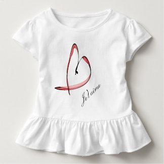 niedliche Zeichnung kleines Herz Kleinkind T-shirt