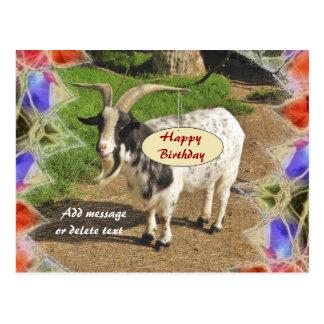 Niedliche Ziegen-abstrakte Rahmen-alles- Gute zum Postkarten