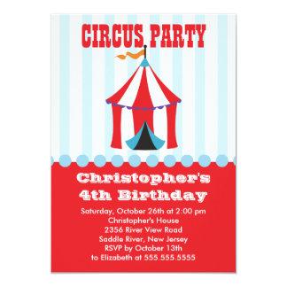 NIEDLICHE Zirkus-Kindergeburtstag-Party Einladung