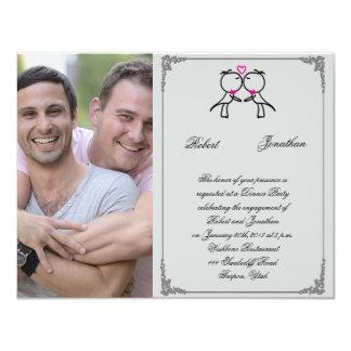 Niedliche zwei Bräutigame, die homosexuelle 10,8 X 14 Cm Einladungskarte