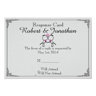 Niedliche zwei Bräutigame, die homosexuelle 8,9 X 12,7 Cm Einladungskarte