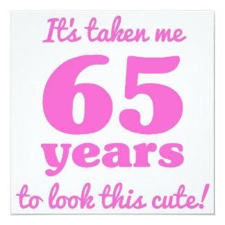 Niedlicher 65. Geburtstag Fu0026#252;r Frauen Karte