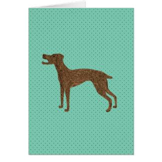 Niedlicher Abstreifenhund Karte