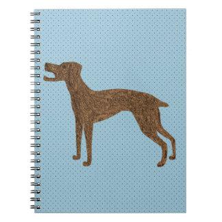 Niedlicher Abstreifenhund Notizblock