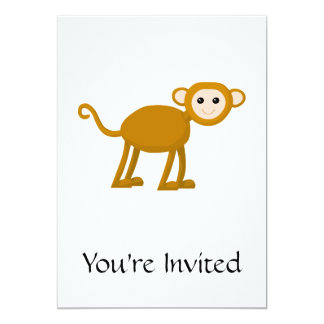 Niedlicher Affe 12,7 X 17,8 Cm Einladungskarte